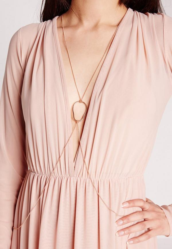 Ibiza Rose Gold Body Chain