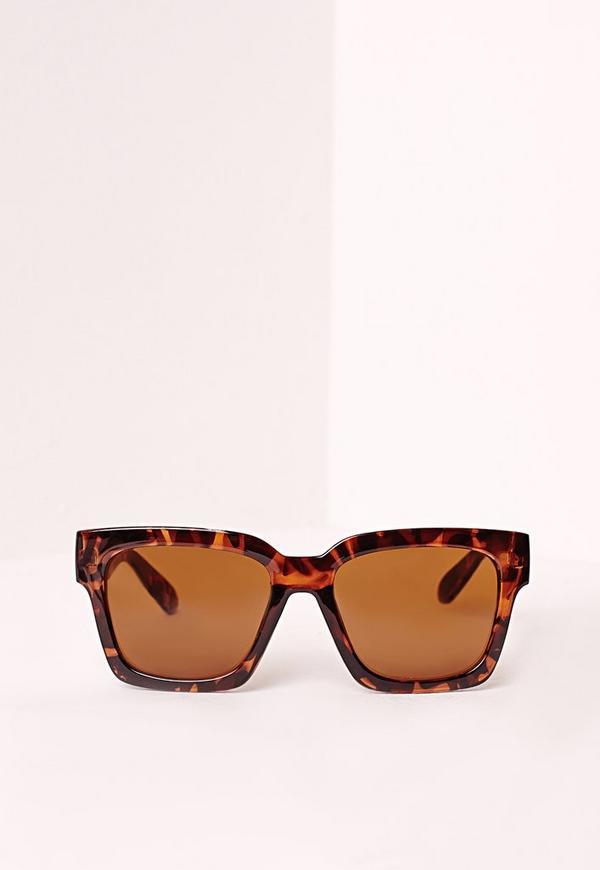 Oversized Tortoise Shell Sunglasses Brown