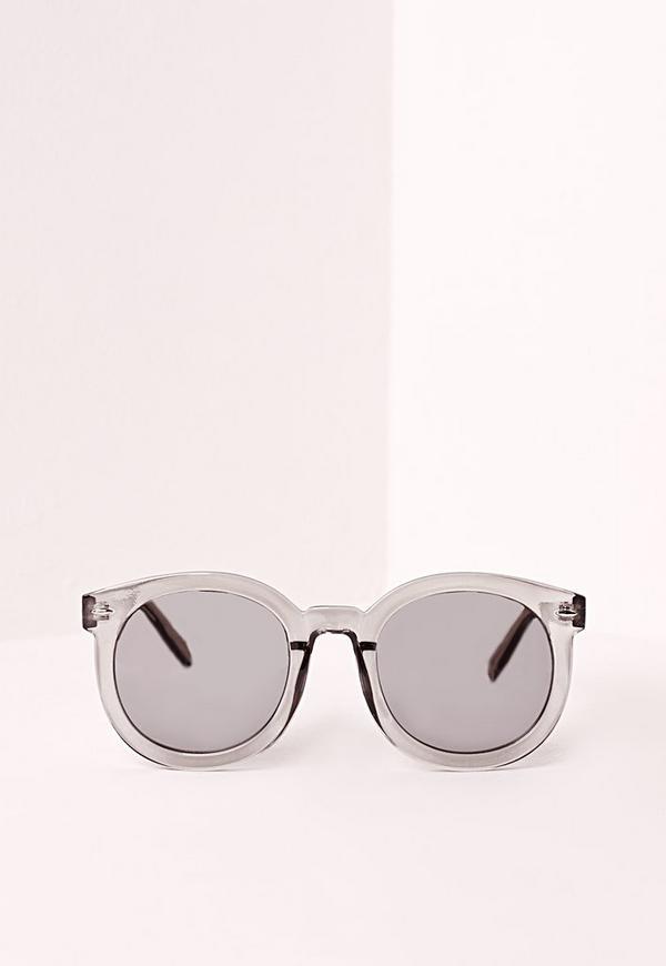 Smoke Frame Sunglasses Silver