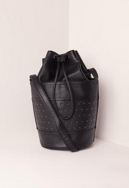 Black Stud Detail Duffle Bag