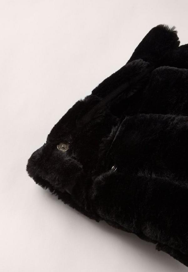 add4c0b642 Black Faux Fur Roll Top Clutch Bag.  40.00. Previous Next