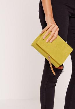 Green Mini Tassel Clutch Bag