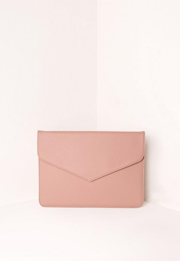 Oversized Envelope Clutch Bag Pink