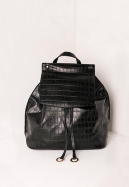 Croc Circle Trim Backpack Black