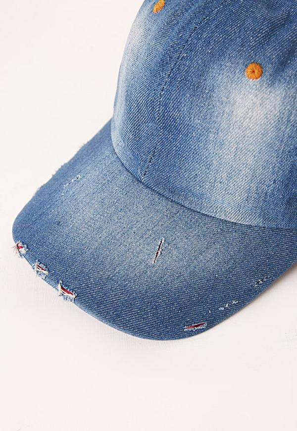 denim baseball cap ebay brandy melville forever 21 distressed blue previous next