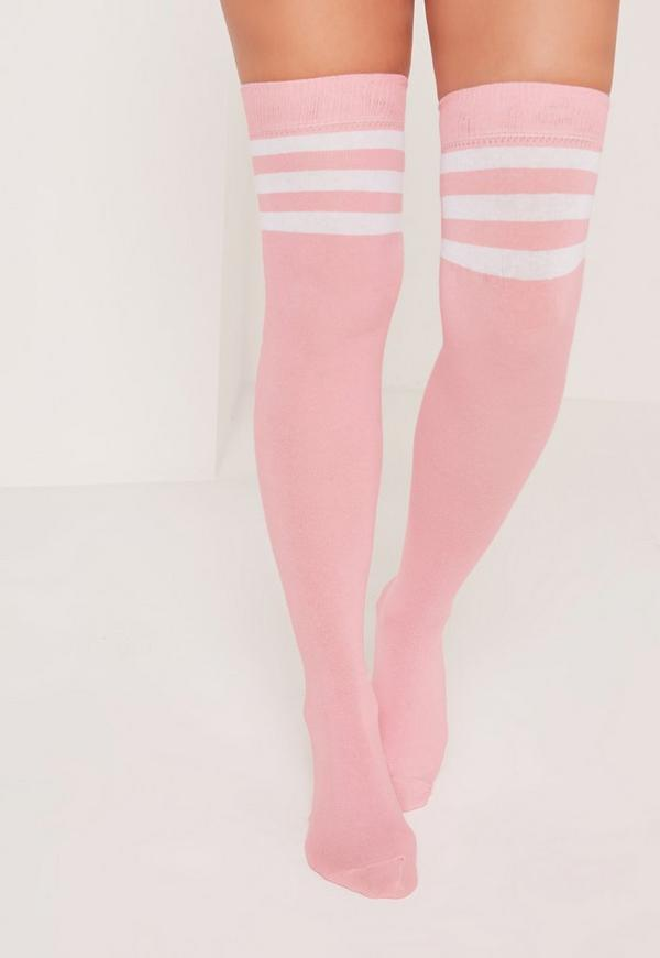 Over the Knee Sports Sock Pink