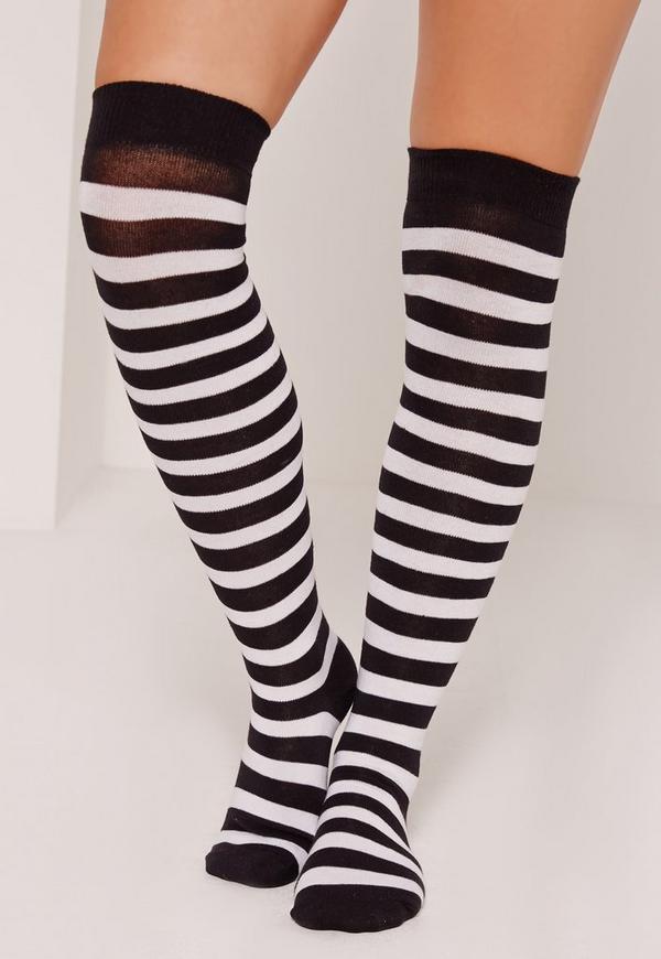 Over the Knee Socks Stripe