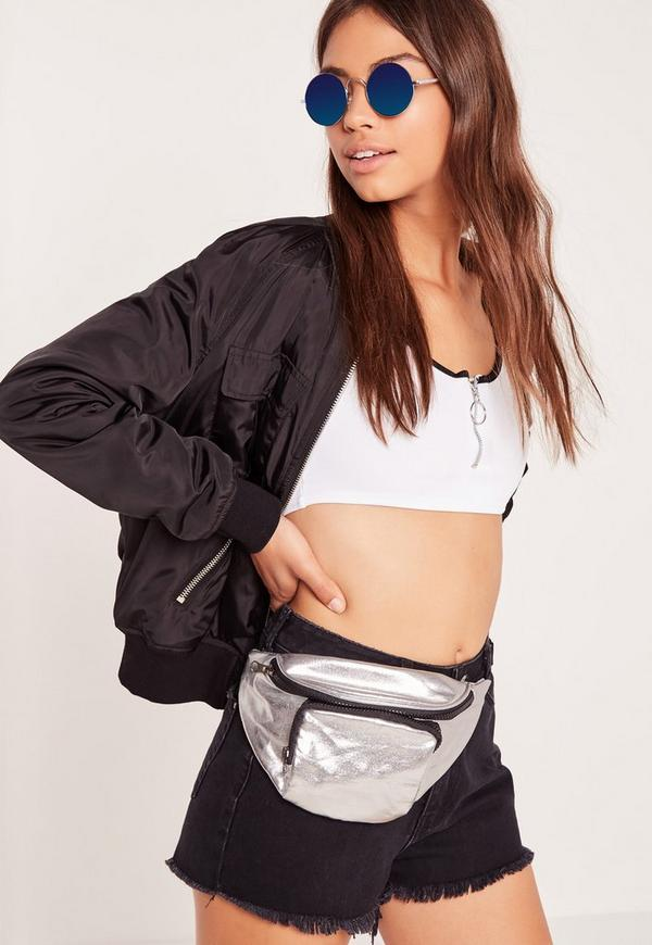 Metallic Bum Bag Silver