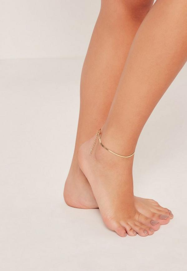 Skinny Ankle Chain Gold