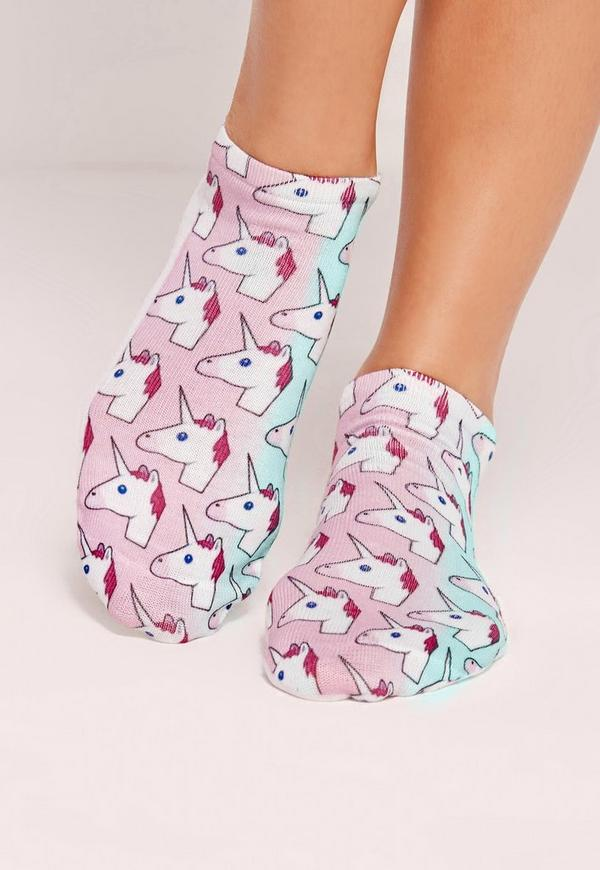Unicorn Printed Socks Multi