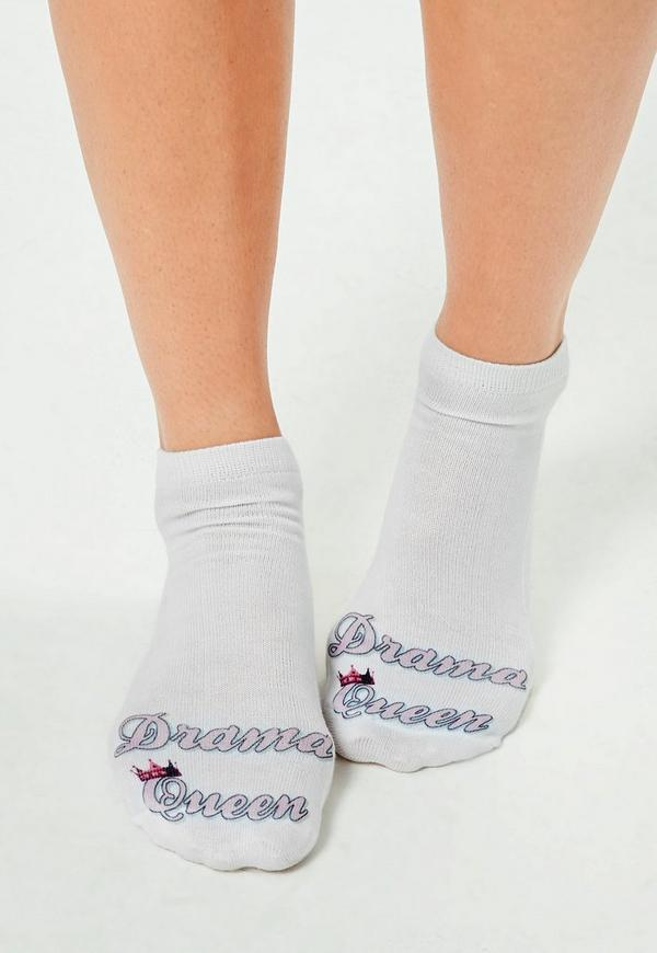 Drama Queen Socks White