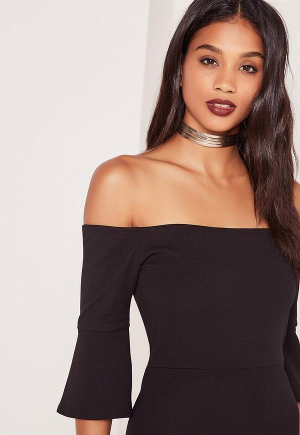 Four Layer Faux Leather Choker Necklace Gold
