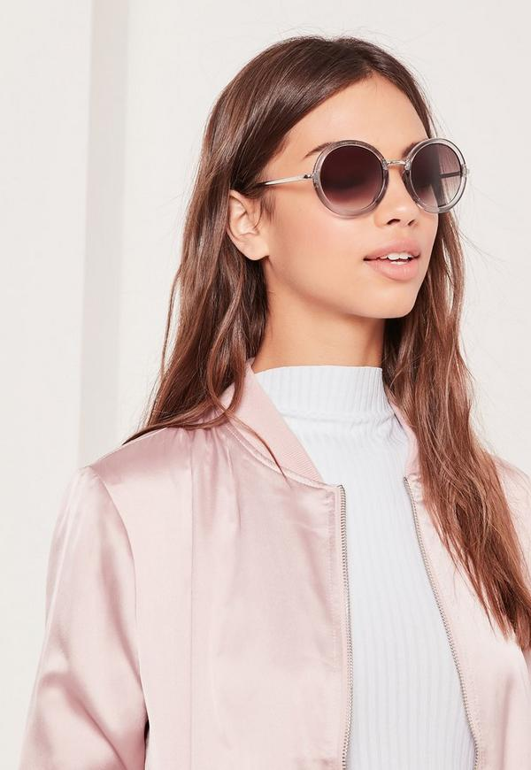 Round Frame Sunglasses Gold