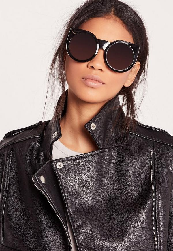 Over Sized Cat Eye Sunglasses Black