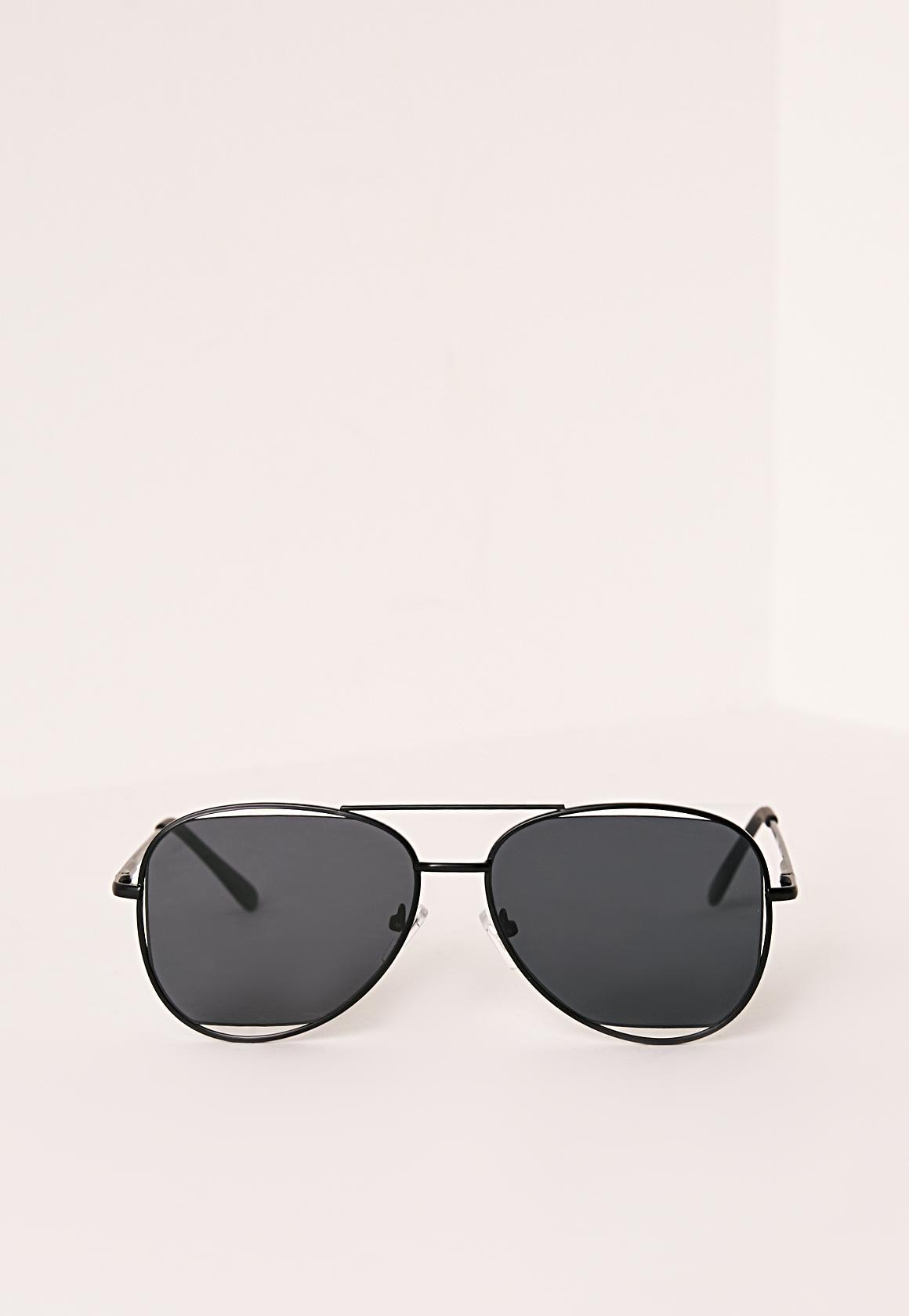 Aviator Black Sunglasses L2yp