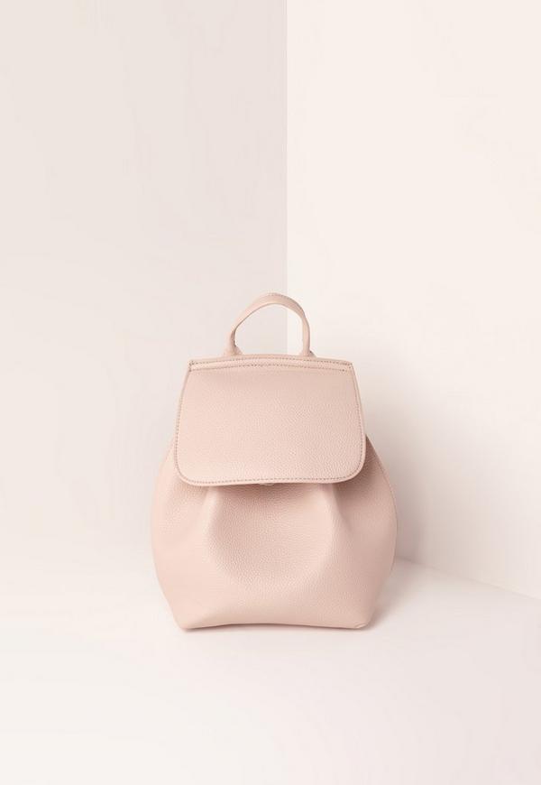 Simple Drawstring Backpack Nude