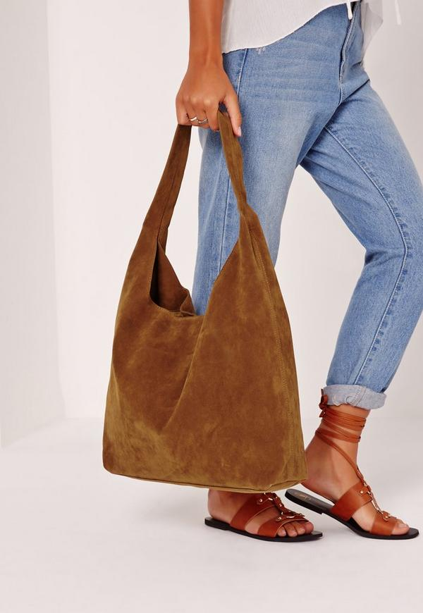 Tan Faux Suede Tote Bag | Missguided