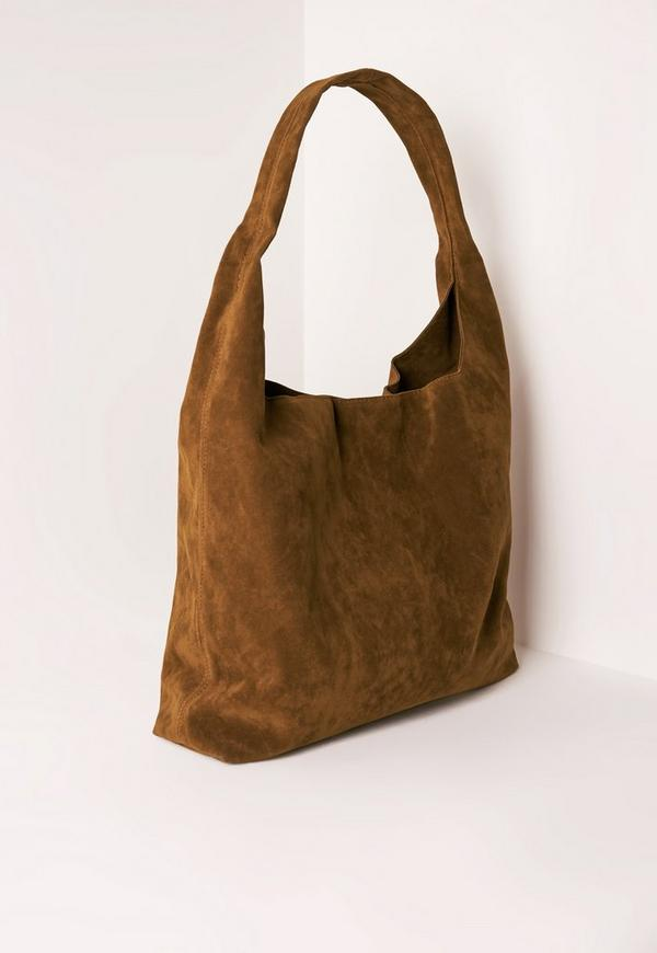 Tan Faux Suede Tote Bag   Missguided