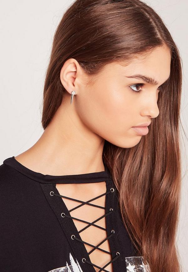 5 Pack Stud Earrings Silver