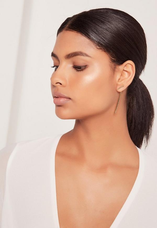Drop Detail Earrings Gold