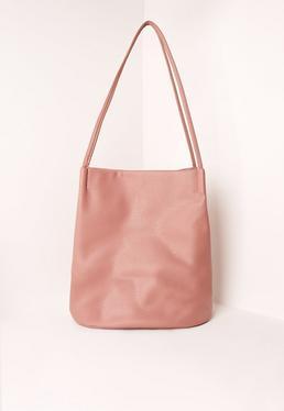 Pink Minimal Bucket Bag