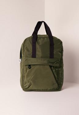 Khaki Sleek Sporty Backpack