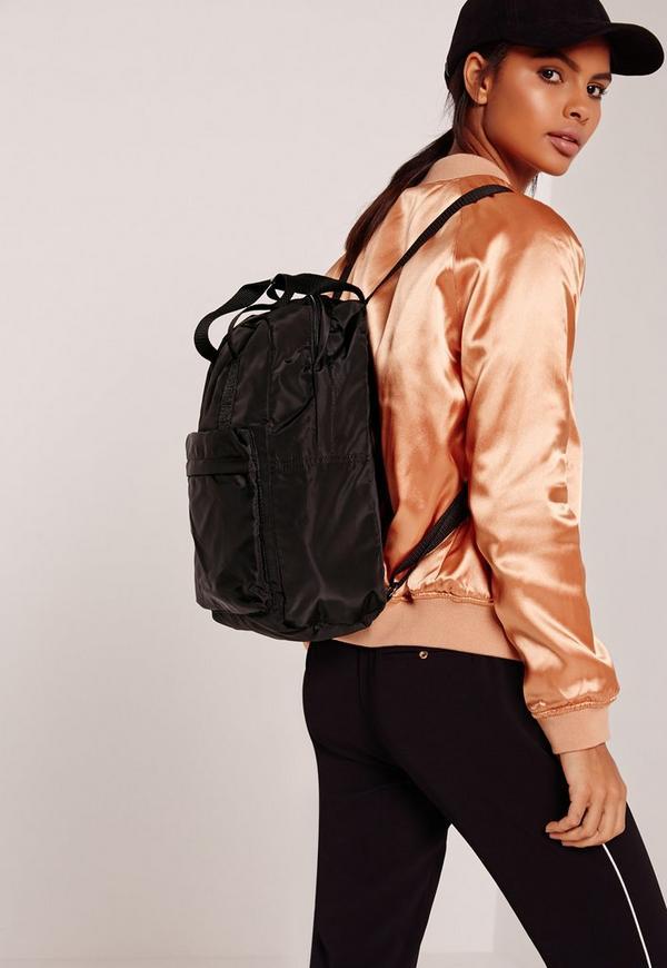Black Sleek Sporty Backpack