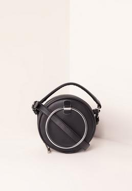 Black Circle Cross Body Bag
