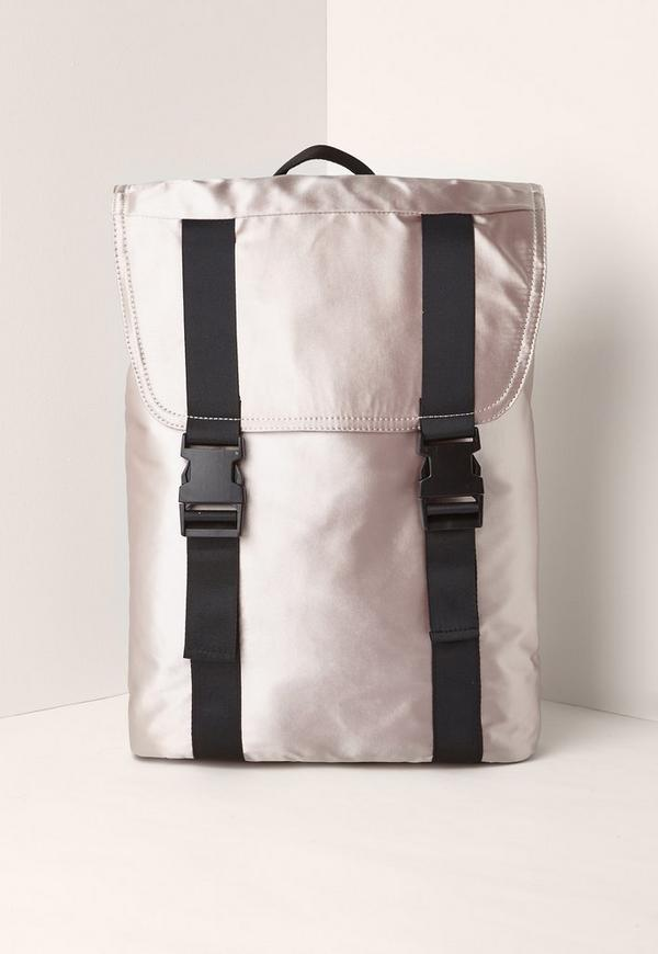 Satin Backpack Nude