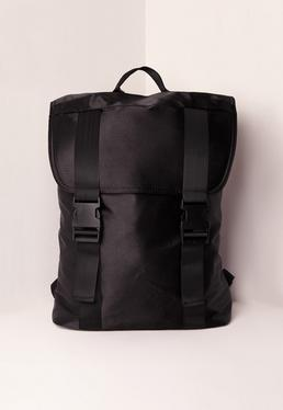 Satin Backpack Black