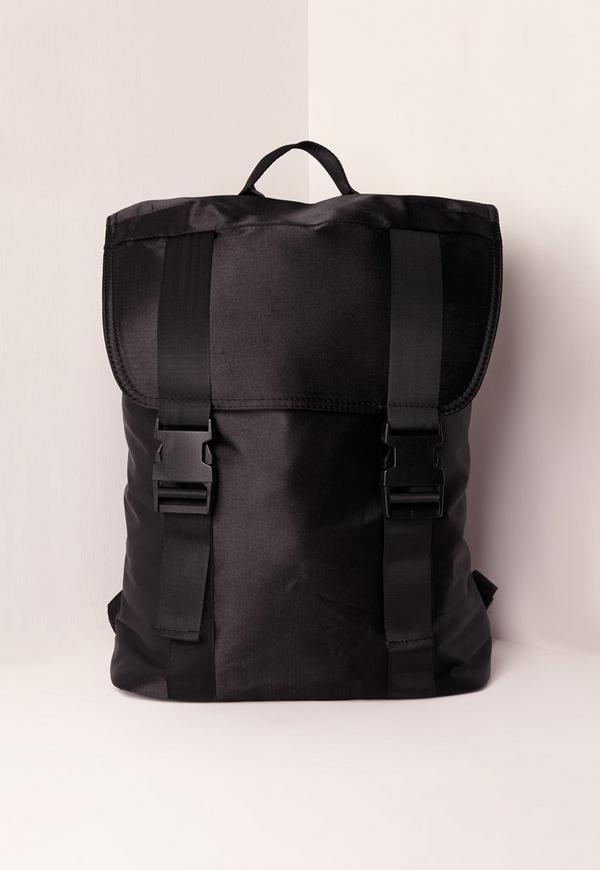 Satin Backpack Black