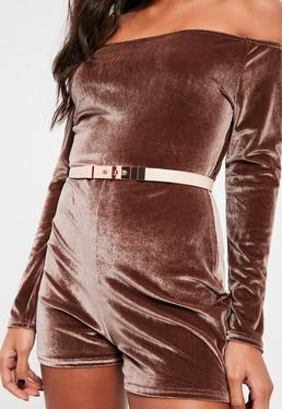 Nude Twist Lock Metal Fastening Belt