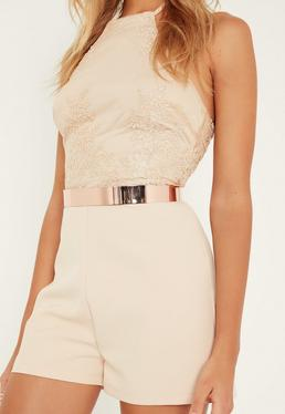 Rose Gold Metal Waist Belt