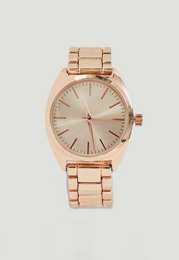 Rose Gold Bracelet Strap Watch