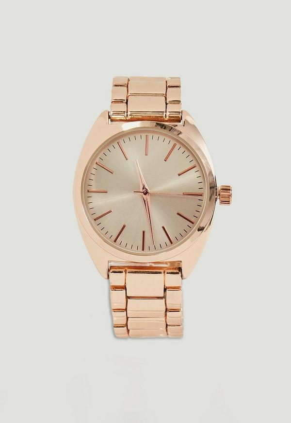 Rose Gold Bracelet Strap Watch