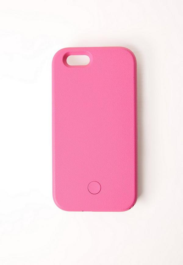 selfie lighting iphone 6 case pink