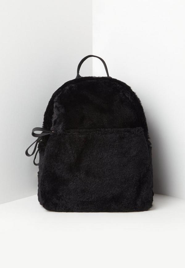 Black Faux Fur Backpack 27 00 Previous Next