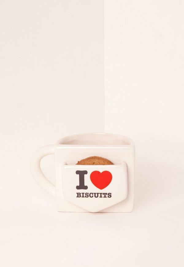 I Heart Biscuits Mug Multi
