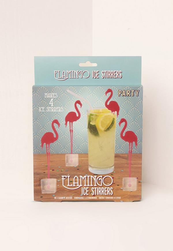 Flamingo Ice Stirrers Pink