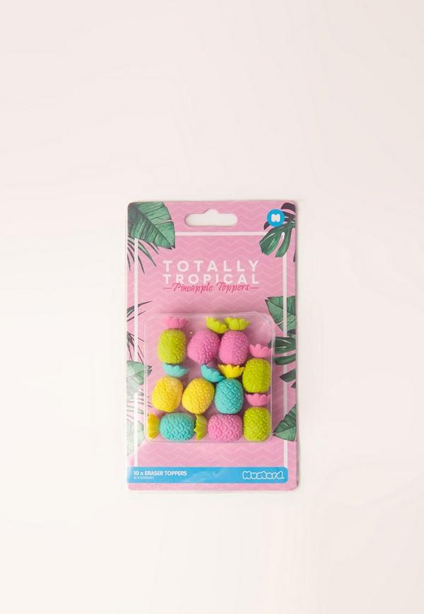 Tropical Pineapple Pencil Toppers Multi