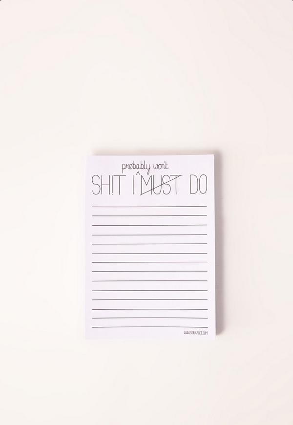 Things To Do Notepad White