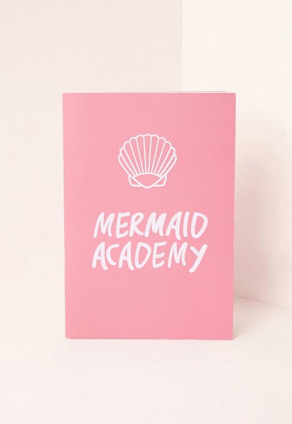 Mermaid Academy Notebook Pink