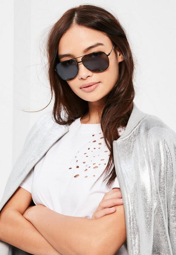 Black Classic Aviator Sunglasses