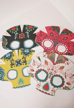 Máscaras que brillan en la oscuridad multicolor