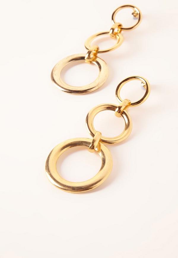 boucles d 39 oreilles dor es plusieurs anneaux missguided. Black Bedroom Furniture Sets. Home Design Ideas