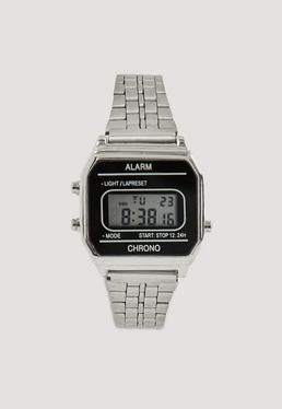 Reloj Digital en Plateado