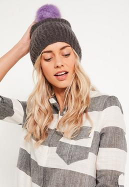 Grey Soft Knit Beanie