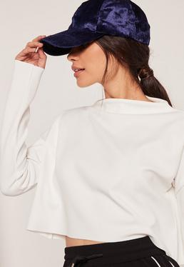 Navy Velvet Cap