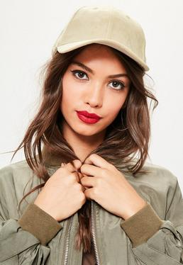 Nude Faux Suede Baseball Cap
