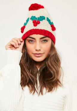 Christmas Holly Hat